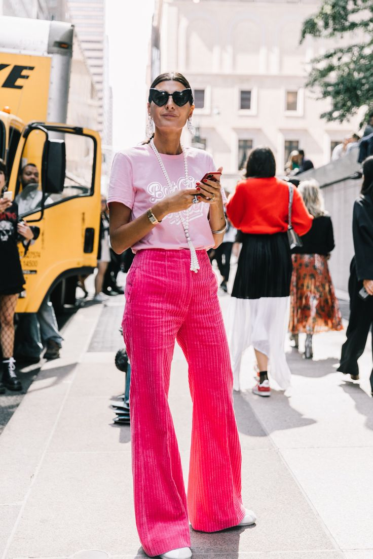 baby pink + pink NYFW 18