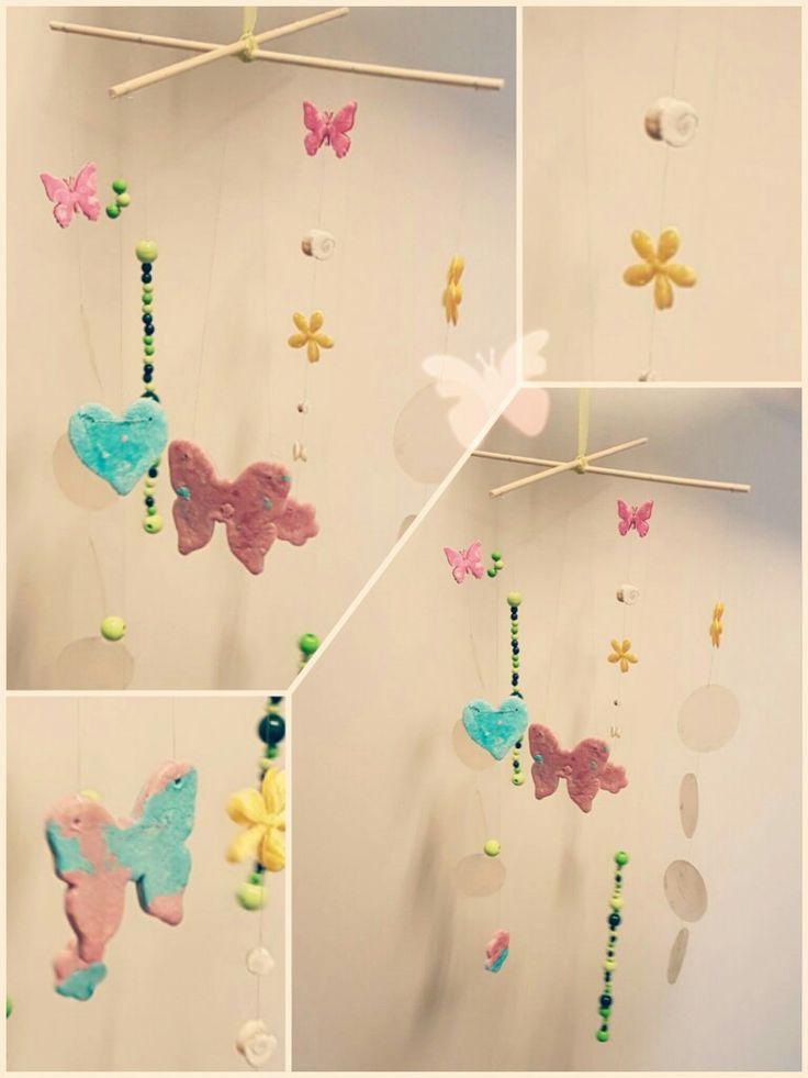 Ein bisschen Frühling, ein bisschen Salzteig / Herz/ Schmetterling/ Blume/ Basteln mit Kindern