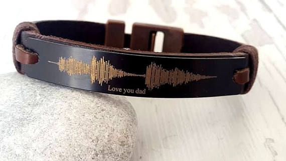 Soundwave Bracelet Coordinate Bracelet for Him Personalized