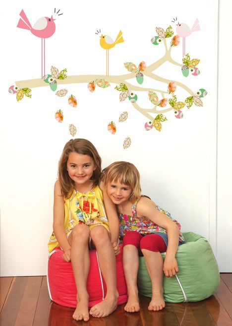Cocoon Couture Enchanted Branch wall sticker. Like this one for girls room - from their website