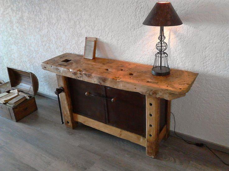 Meuble et objets décoration style industriel: Etabli de menuisier style industriel.