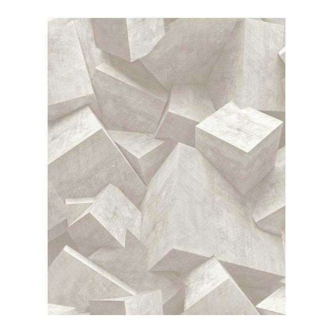 Tapeta Flizelinowa 3d Blocks Bezowa L50507 Tapety Tapeta Wzory