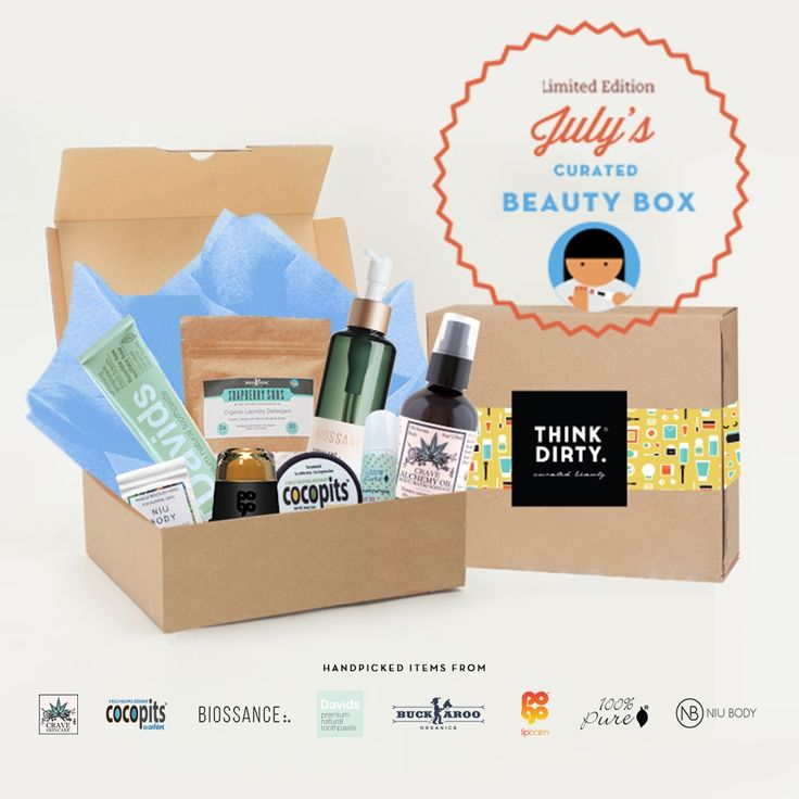 We are partnering with rated clean 0-3 beauty brand sponsors1 who support our mission to bring the most requested beauty box to you. Each box comes with 8 hand-picked, rated clean beauty products, a full she-bang of Think Dirty swag goodies and lots of love. Valued at over $USD 200+, specially offered to you for $USD 95!    The Think Dirty Clean Beauty box is the perfect gift for health-conscious significant others, hard-core yogi friends, or kale-loving besties. Or better yet, show yourself…