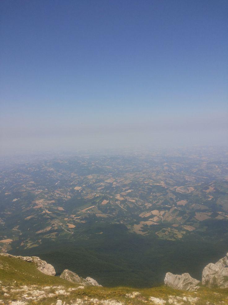 panorama dal monte tremoggia