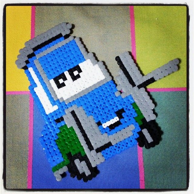 Guido Cars hama beads by yle_cuki