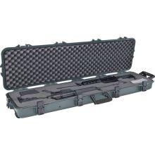 All weather double scope rifle shotgun wheeled hard gun case