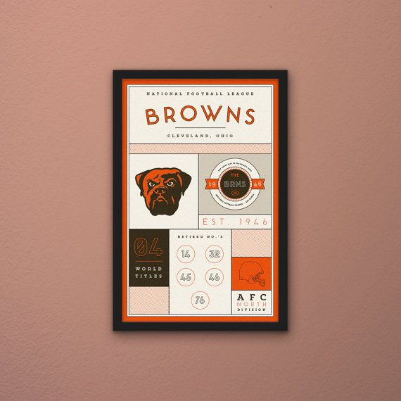 Cleveland Browns Stats Print by PortlySportsman on Etsy