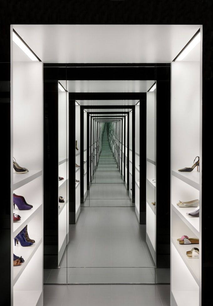 Kurt Geiger Stores - London. Absolutely fabulous darling, but where did the photographer place him/herself to get this shot?
