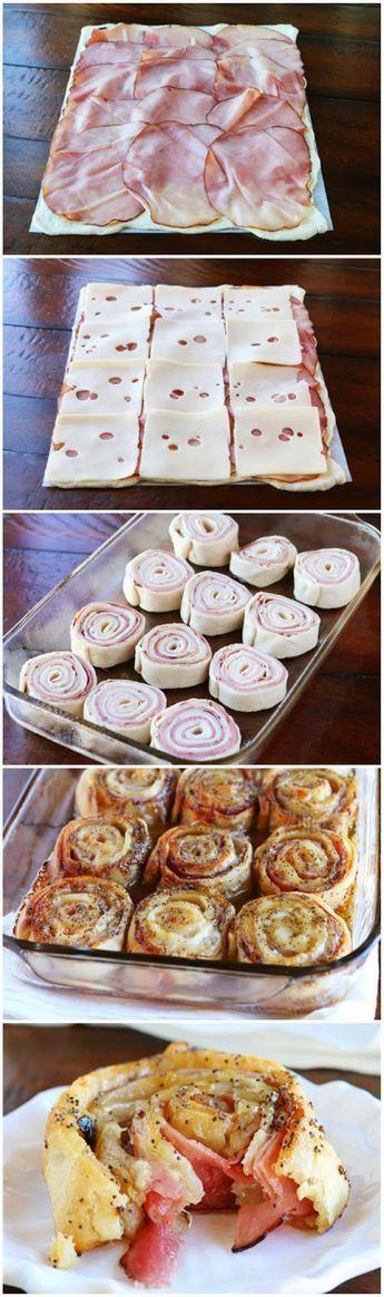 Rouleaux de jambon et de gruyère - Recettes - Ma Fourchette