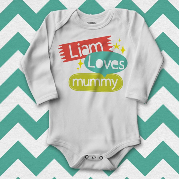 'Name' Loves Mummy | Mother's Day t-shirts, mothers day tshirts, mothers day gifts, gifts for mum