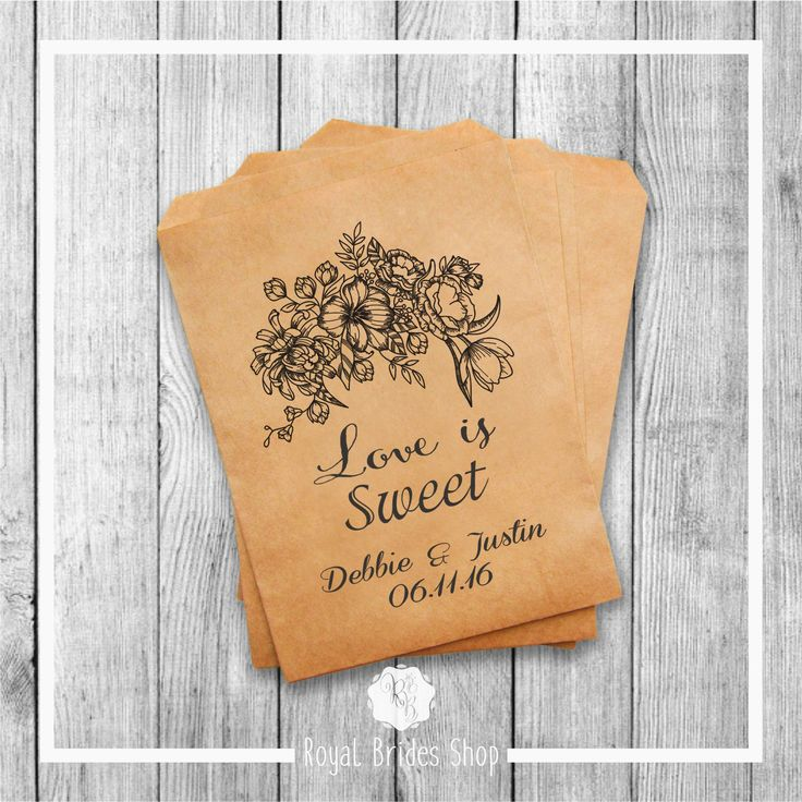 Wedding Favor Bags - Style 012