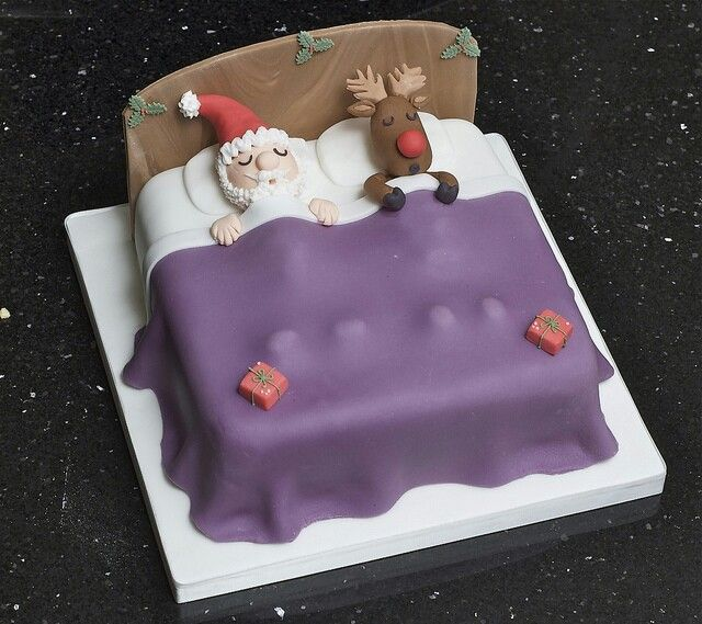 Christmas cake (or maybe a Boxing Day cake as Santa and Rudolph deserve a sleep then!)