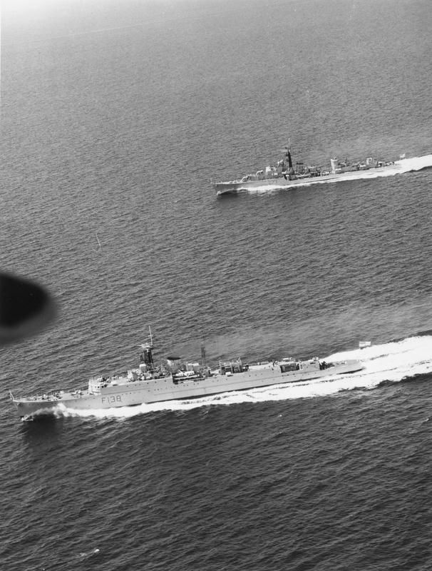 SHIPS OF THE ROYAL NAVY 1945-1989 HMS Rapid in the foreground