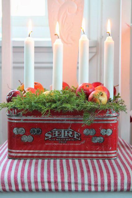 adventskerzen in der blechdose weihnachten pinterest weihnachten alle jahre wieder und winter. Black Bedroom Furniture Sets. Home Design Ideas