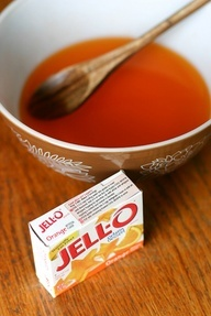 Sore throat? Grab the jello! Just mix your favorite flavor...but instead of chilling it, heat it in the microwave for 30 seconds, then add 1 teaspoon of honey. Experts say the warm gelatin will coat and soothe your throat...And the honeys antimicrobial properties will help kill bacteria. www.tesh.com