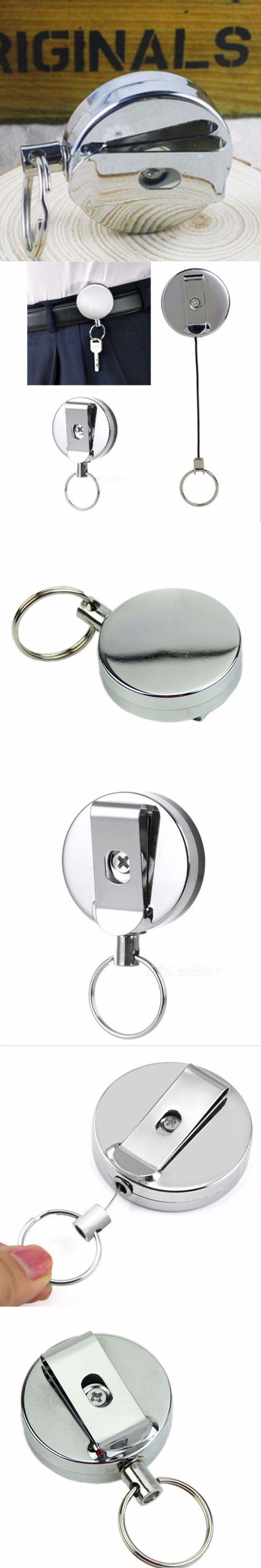 New Metal Car Key holder Key Ring key bag holder Belt Clip pendant for bag man keychain cover Retractable