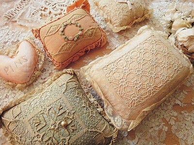 old pin cushions