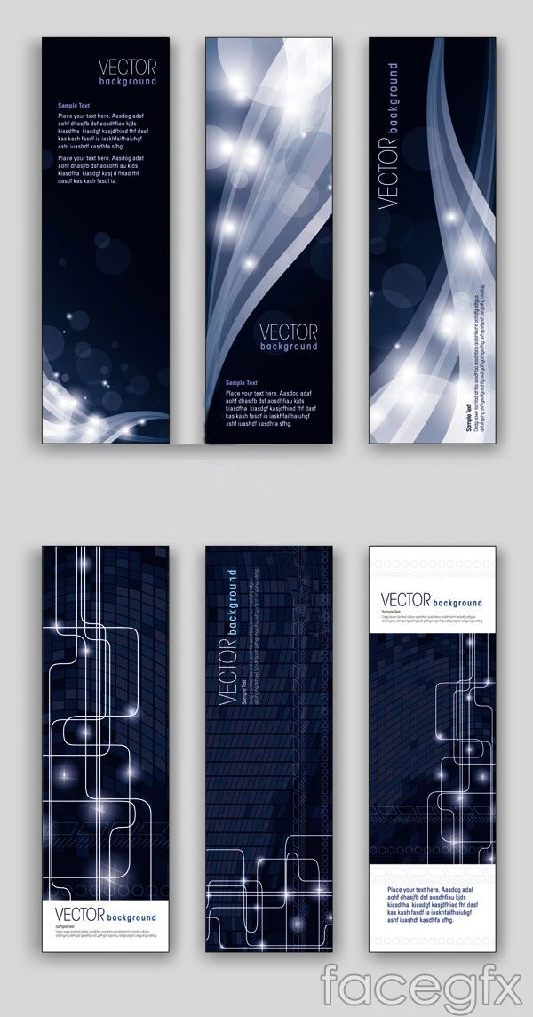 Banners dark sense of science and technology vector