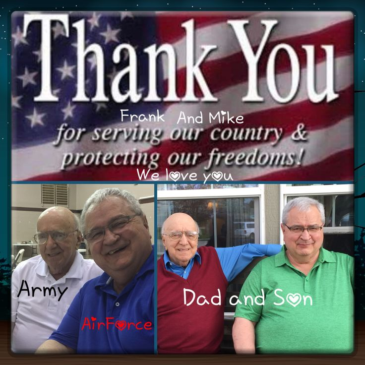 Happy Veterans Day to my Husband and Father in Law! We appreciate your service! Love ¥!ck!£