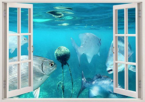 "Ocean Fish Underwater 3D Removable Vinyl Wall Sticker Mural Decal Home Window Large 33.5"" x 47"" Bomba-Deal http://www.amazon.com/dp/B00O907PWI/ref=cm_sw_r_pi_dp_A4hnub00ZJ5XV"
