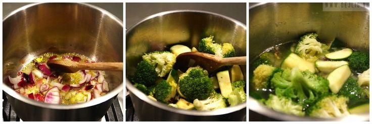 Recept: Broccoli Courgette-Soep met Zalm