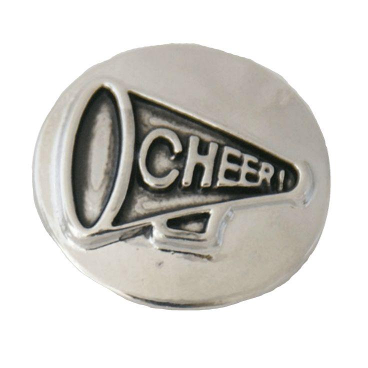 "Chunk Snap Charm Metal Cheer Megaphone 20mm 3/4"" Diameter"