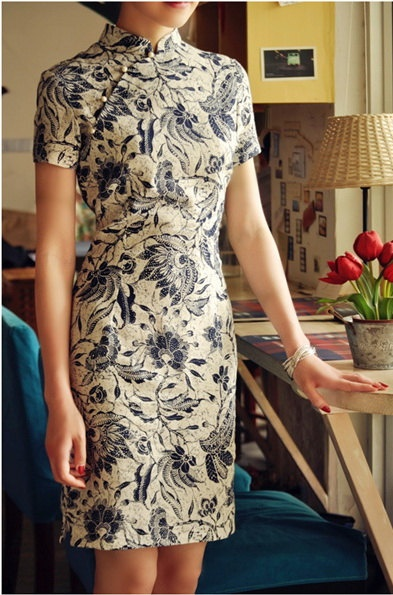 chinese  traditional tang suit  linen cheongsam  by starryfashion, $35.00