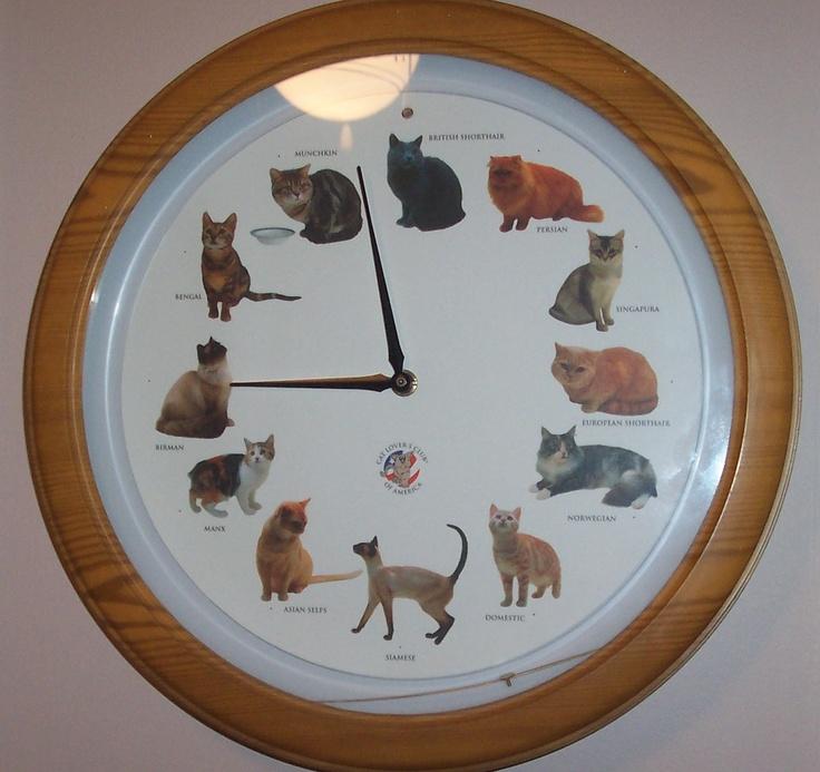 Cat Clock That Meows On The Hour Cat Decor Cat Decor