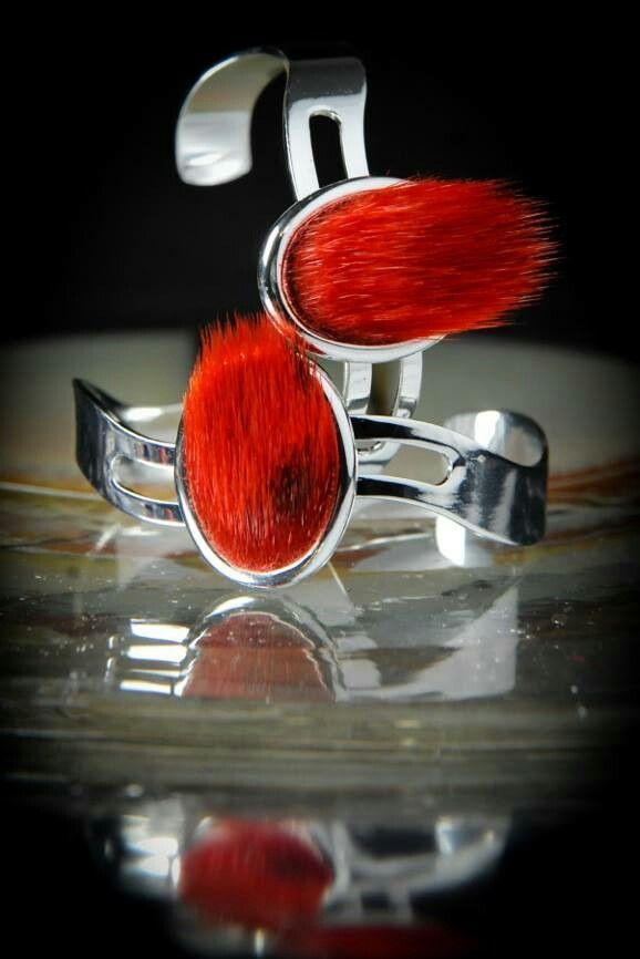 Red Sealskin Lop Bracelet