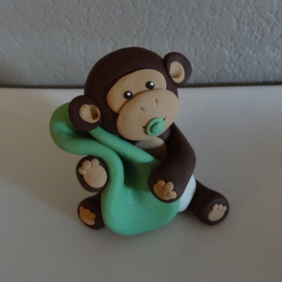 Custom Monkey Cake Topper for Birthday or Baby Shower by carlyace, $16.95