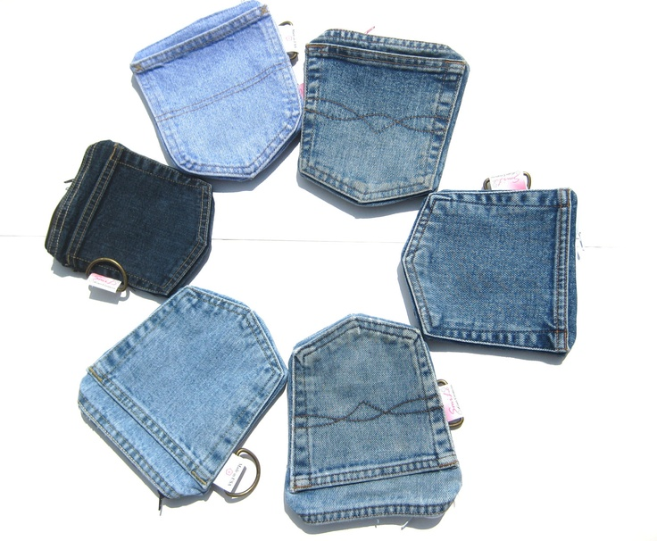 Denim Pockets Wallet with zipper for iPhone. MADE TO ORDER Men Women. homesteading Eco Fashion upcycled repurposed. Fall/Winter Fashion. $15.00, via Etsy.