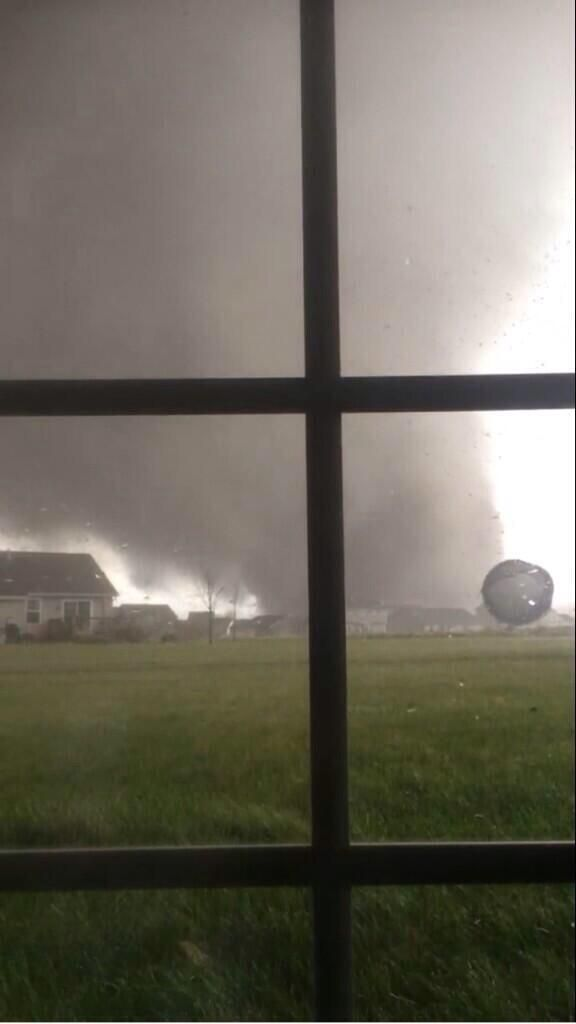 Monster tornado just east of Peoria, Illinois