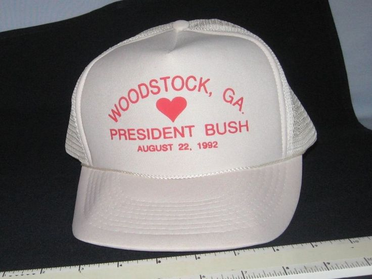 1992 President George H. W.  BUSH Election Hat Cap Woodstock GA campaign stop