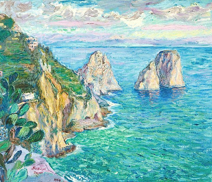 David Davidovich Burliuk 1882-1967 Isle Of Capri