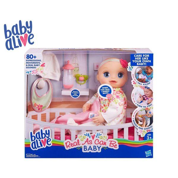 Baby Alive Real As Can Be Baby Doll In 2020 Baby Alive Baby Alive Dolls Cute Baby Dolls
