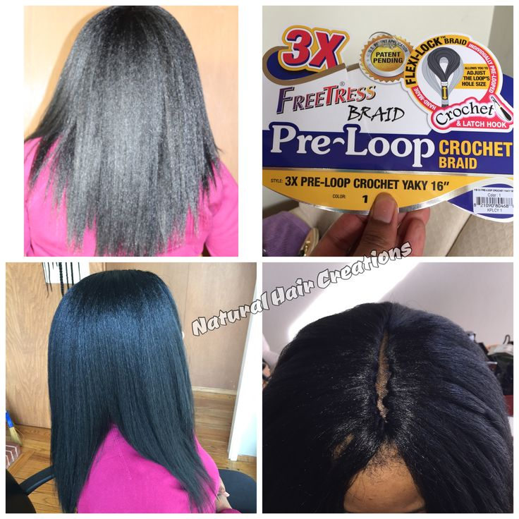 Pre loop crochet braids yaki hair straight