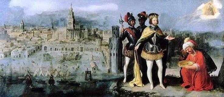 La reconquista de Sevilla por parte de las tropas de Fernando III. Seville, Spain.