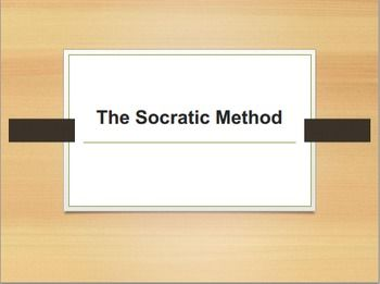 What examples of the Socratic Method can be found in Socrates' Apology?
