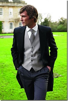 three piece wedding suit English style #men #wedding #attire