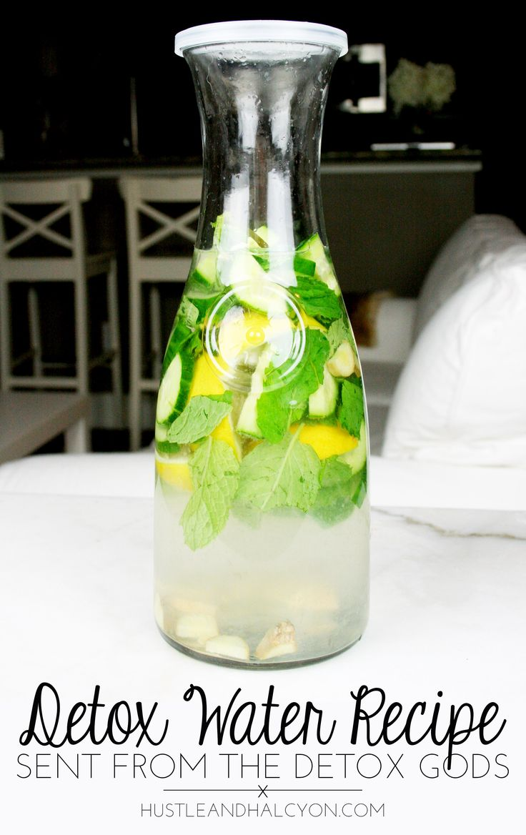 Easy, REFRESHING detox water recipe! No crazy ingredients! AKA: Sassy Water. Gets rids of bloat, inflammation, alleviates digestive issues!   Hustle + Halcyon