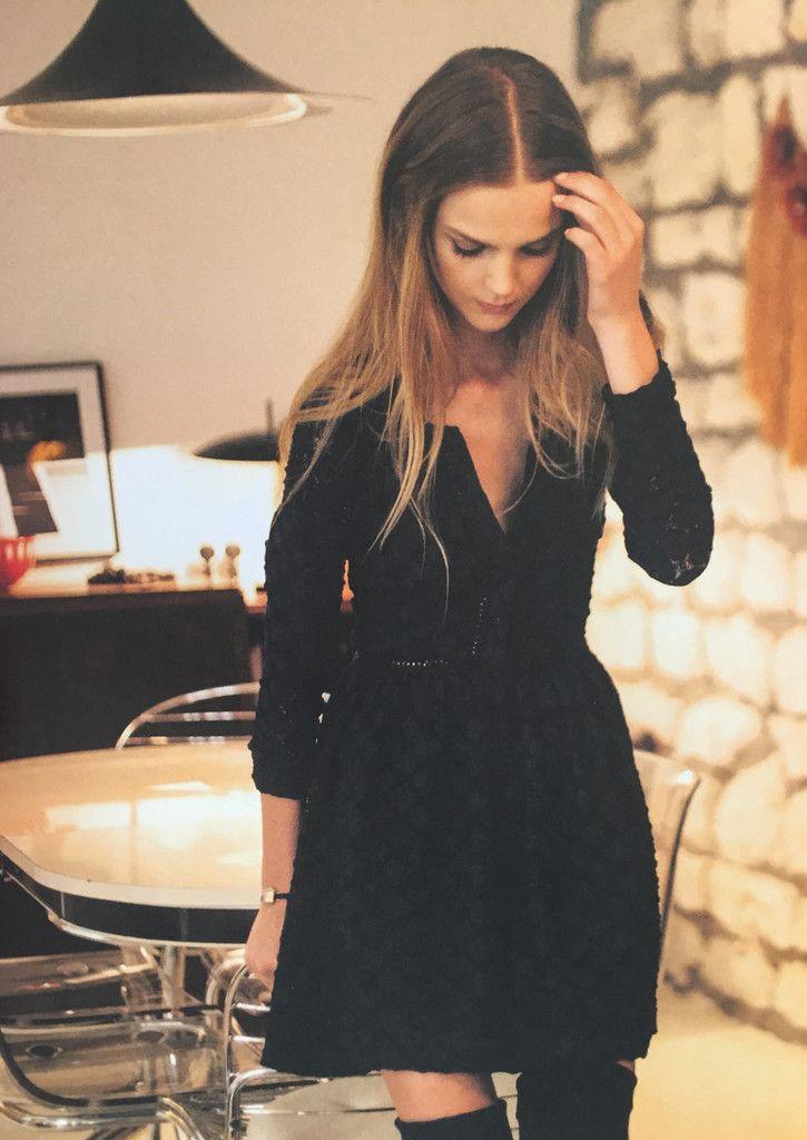 Robe Renaud la petite française dentelle – Romane la boutique- noire ou bleue