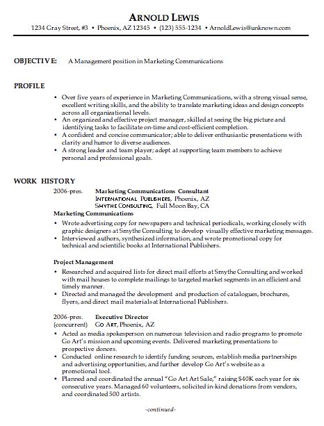 Combination Resume Sample Marketing Communications Manager-pg1
