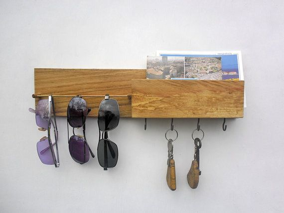 key rack sunglasses holder with mailbox by ThirdCloudToTheLeft