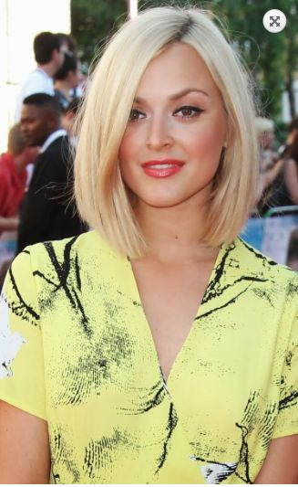 Fearne Cotton, mid length blonde bob, sleek