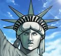 how to draw statue of liberty face drawing tutorial