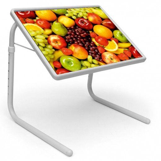 Multi Fruits Table Mate Designer Portable Adjustable Dinner Cum Laptop Tray Table 119
