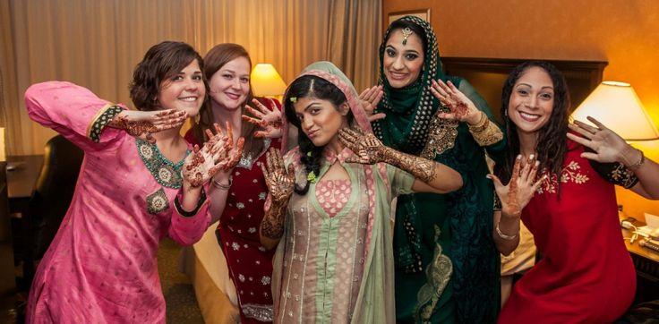 Pakistani bridesmaids arfa irfan 39 s vibrant for Pakistani wedding traditions
