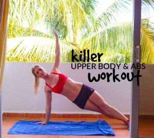 Killer Upper Body & Abs Bodyweight Workout || lushiousLIFTS.com