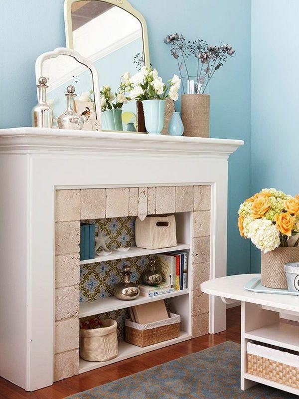 pastel couleur pour la fausse cheminée décorative