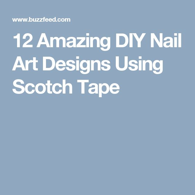 22 best polishes for trade images on pinterest nail polishes 12 amazing diy nail art designs using scotch tape prinsesfo Choice Image